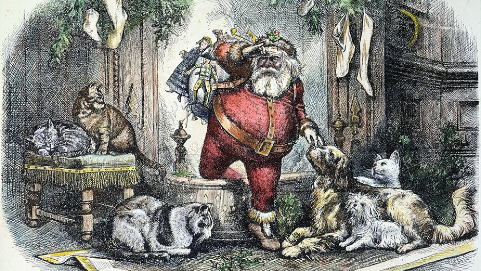 The coming of Santa Claus, by Thomas Nast