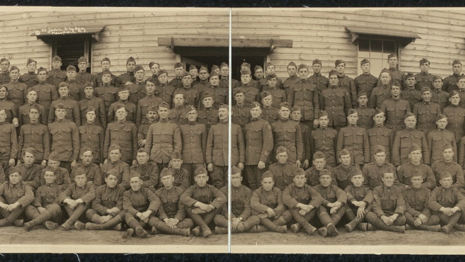 "Members of the US Army Company ""I"", 102nd Infantry Regiment circa 1919."