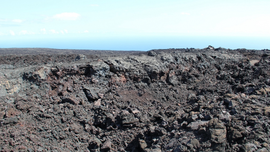 The Mauna Ulu lava shield in Hawai'i Volcanoes National Park