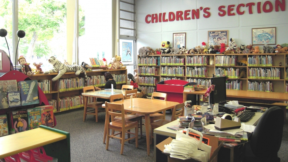 The children's section of the Dana Neighborhood Library