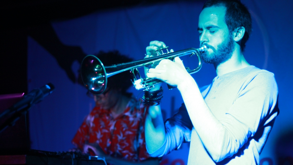 """Milad Khawam performing in Berlin as part of his new music project, """"Exilistan."""""""