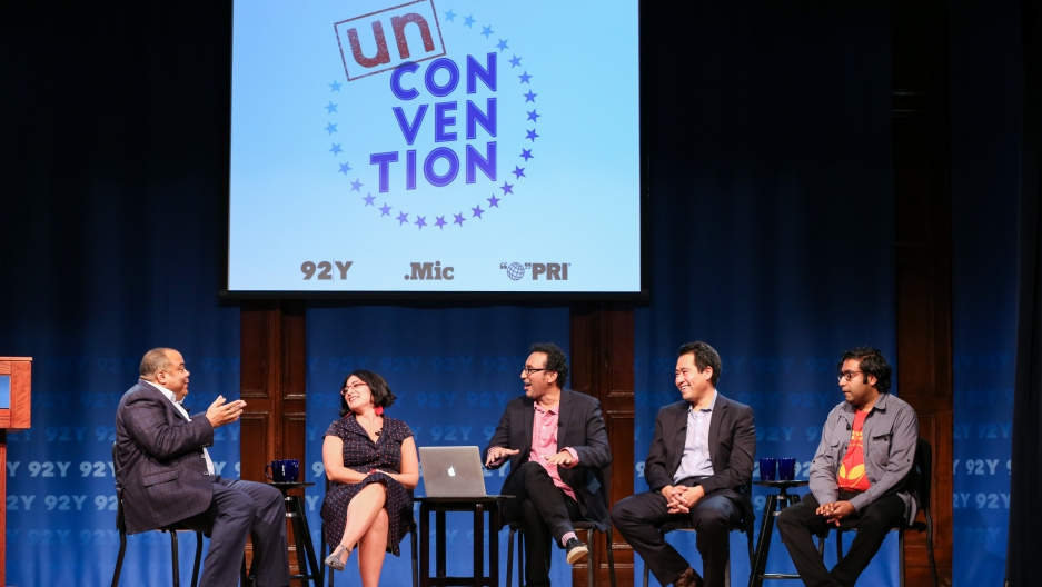 Actor Aasif Mandvi and others speak about divesristy at UnConvention panel in NYC