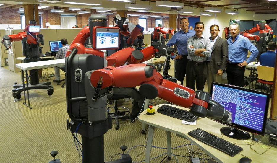 "Rethink Robotics' Baxter, which the company markets as a ""safe, flexible, affordable alternative to outsourced labor and fixed automation."""
