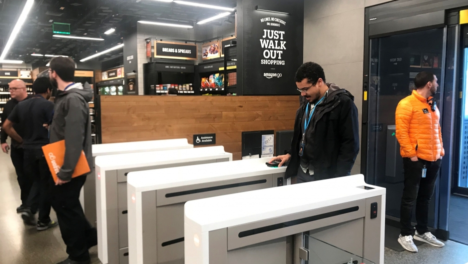 Amazon store opening in Seattle on Monday uses cameras and sensors to track purchases | Public Radio International