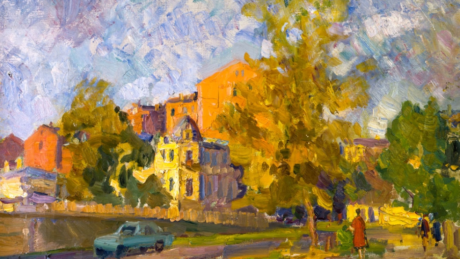 Alexey Aizenman, Moscow Landscape, Oil on Canvas.