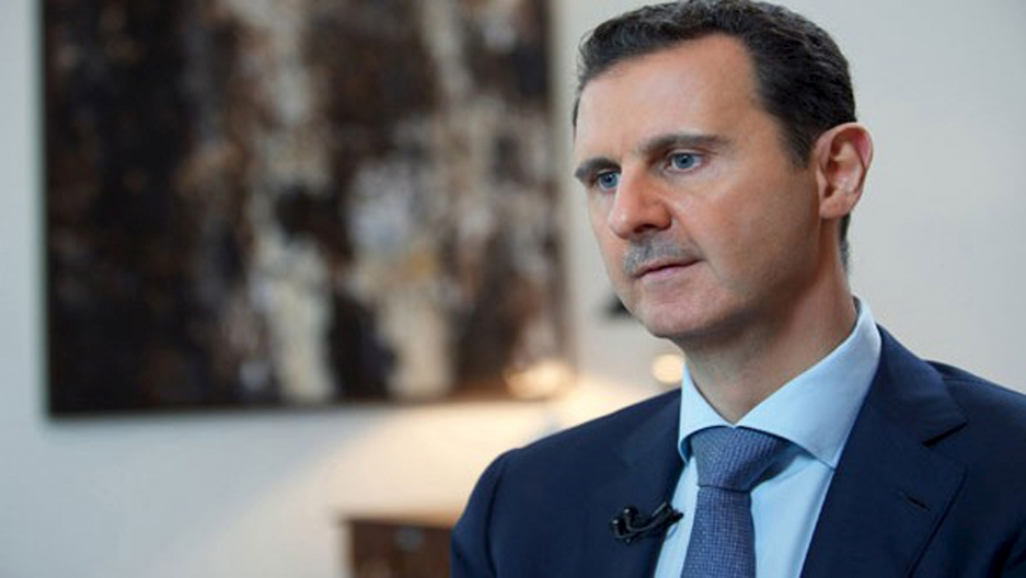 Syria's President Bashar al-Assad during an interview in 2015