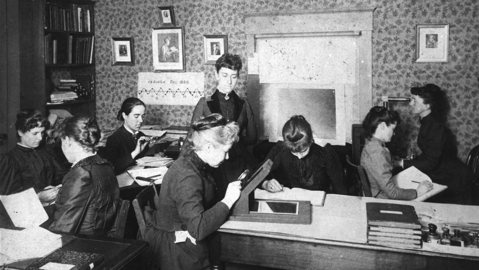 Picker's female staff at the Harvard College Observatory, circa 1890.