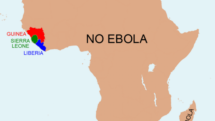 Anthony England created a viral Ebola map to show that the