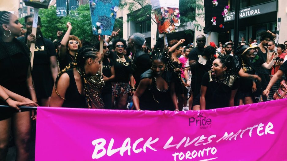 Black Lives Matters protesters at Toronto's Pride Parade, July 3th, 2016.