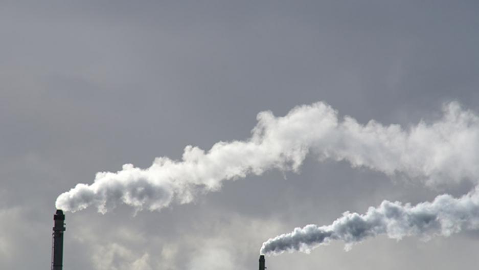 Pollution smokestacks