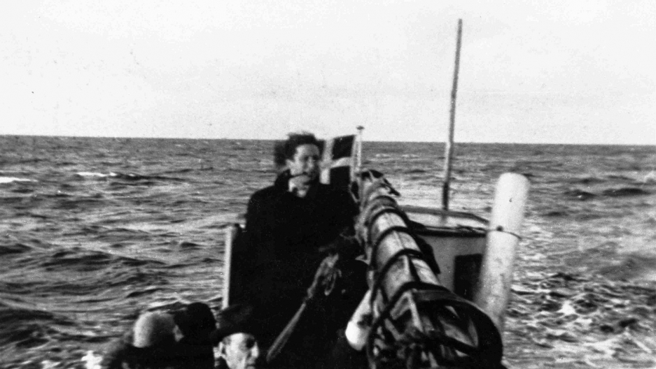 Boat with Jews sailing from Falster, Denmark to Ystad in Sweden, taken between September 1943 and October 1943.