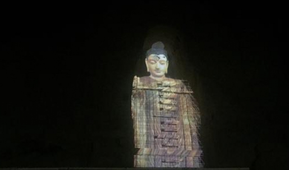 The historic Buddhas of Bamiyan statues have made a return to the Afghan valley as 3D light projections.