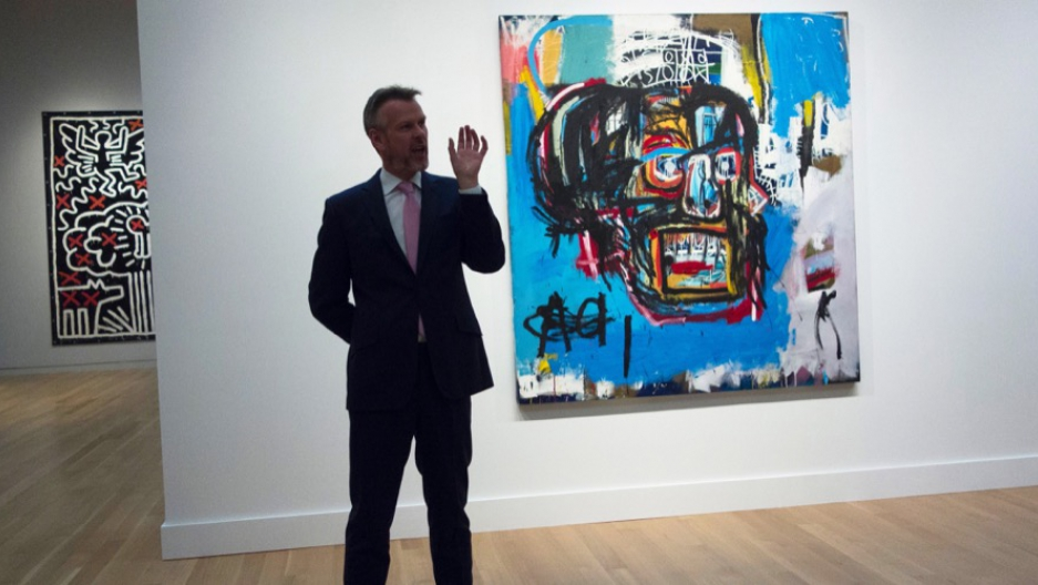 Untitled Basquiat piece sold for a record $110.5 million to Japanese collector