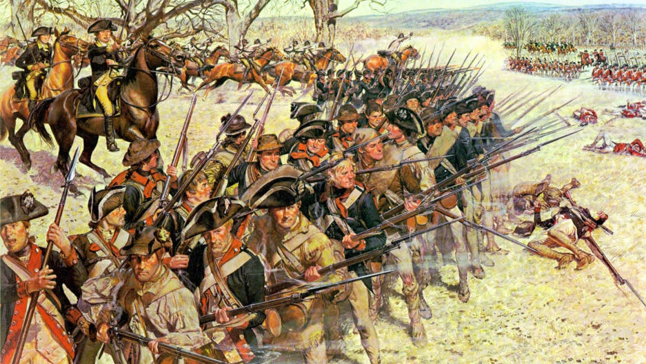 The battle of Guilford Courthouse, 1781.