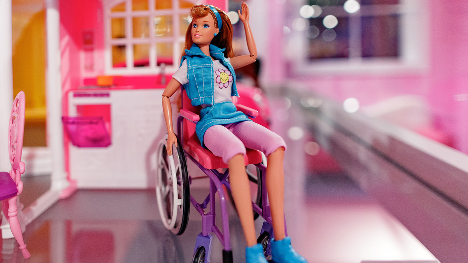 A 'Becky' barbie doll on display at an exhibition in Madrid, Spain.