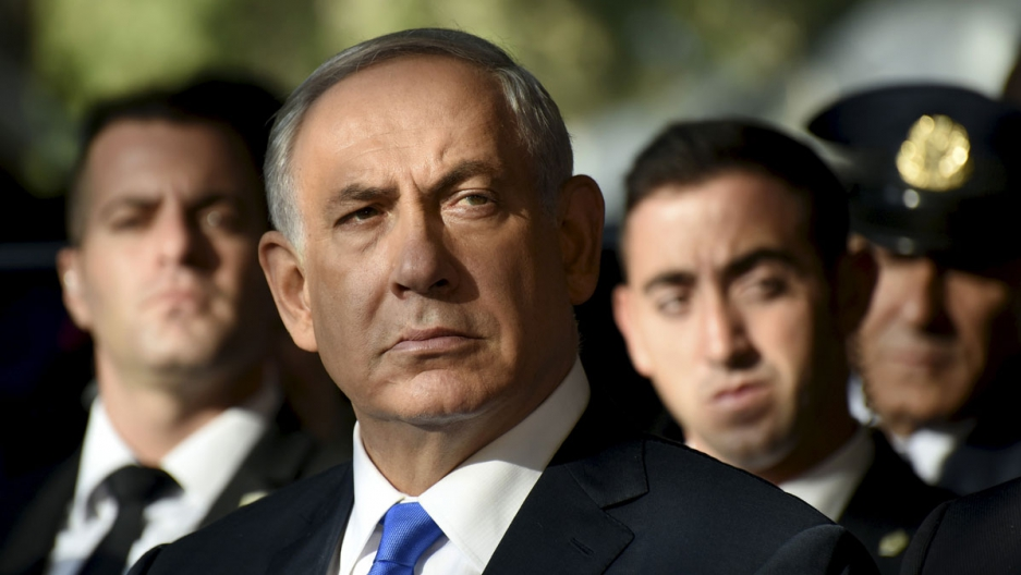 Israel's Prime Minister Benjamin Netanyahu attends a memorial ceremony for the late Prime Minister Yitzhak Rabin at Mount Herzl military cemetery in Jerusalem October 26, 2015. Israel is marking the 20th anniversary of Rabin's killing by an ultra-national