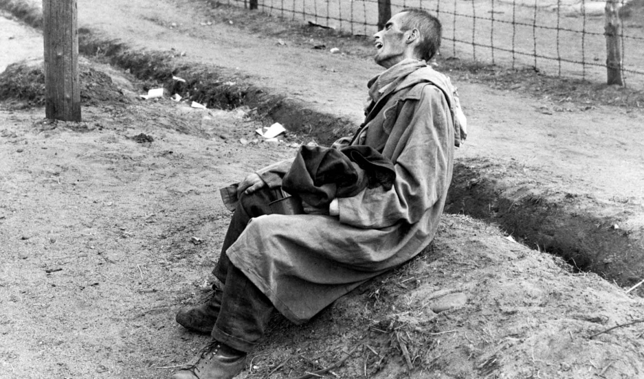 Survivors of the Bergen-Belsen Concentration Camp, which had been taken over by the Allied 21st Army Group. April 15th, 1945.