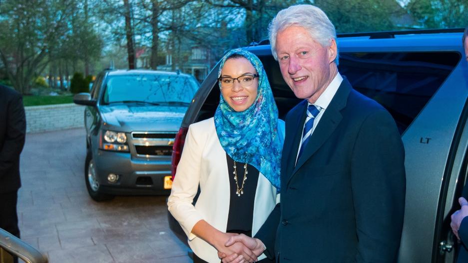 Blair Imani and Bill Clinton