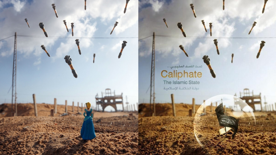 Photographer Brian McCarty's image that was repurposed in an Islamic State propaganda.