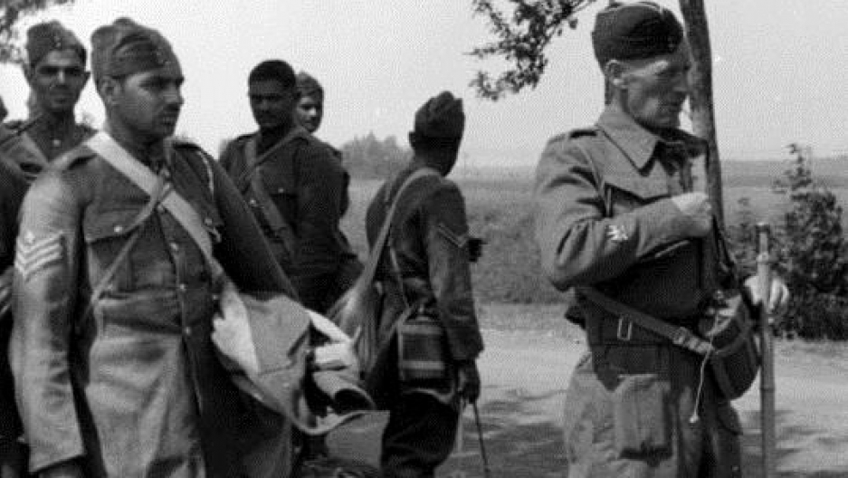 Soldiers of the Royal Indian Army Service Corps, captured in France, 1940