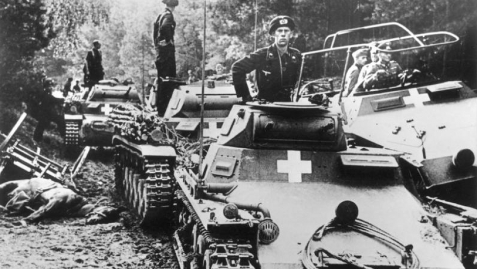 German tanks in Poland, just days after Clare Hollingworth spotted them massing across the border
