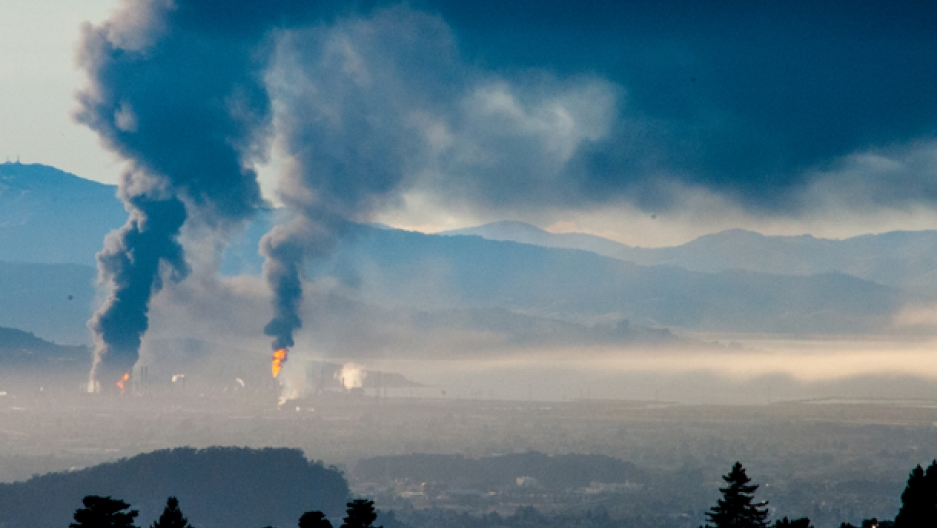 Chevron Bay Area fire