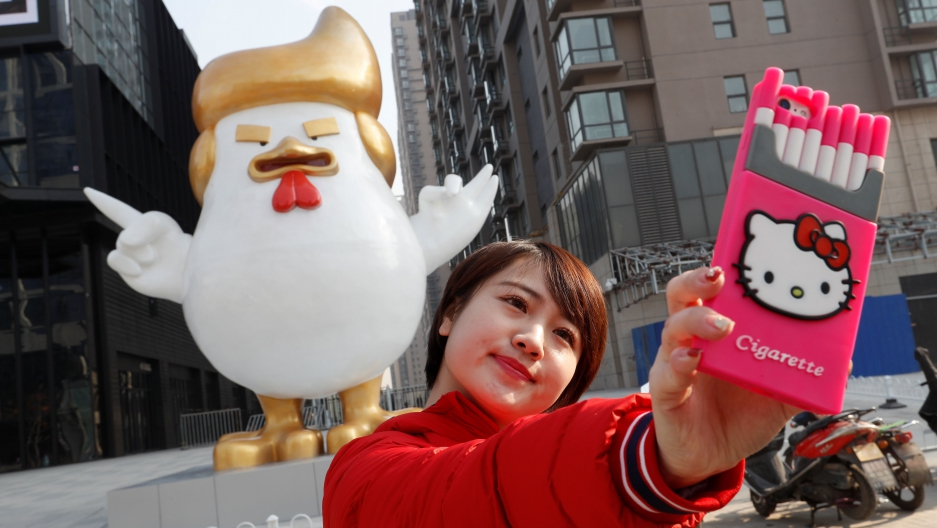 Image of: Stands Tall To Usher In The Year Of The Rooster Chinese Factory Is Selling Giant Inflatable Chickens Resembling Donald Trump Public Radio International To Usher In The Year Of The Rooster Chinese Factory Is Selling
