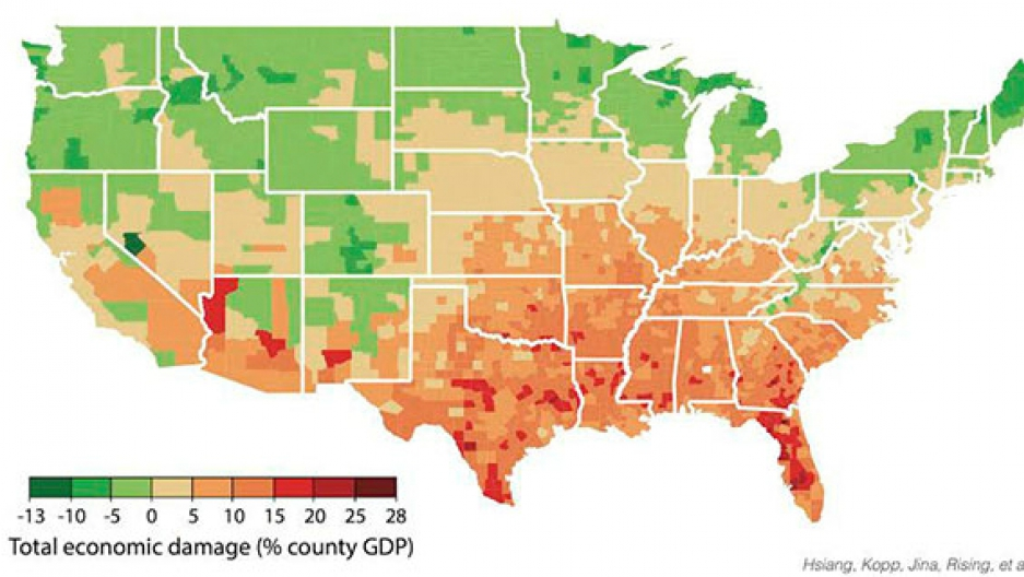 Global warming will increase poverty in the southern US, a ...