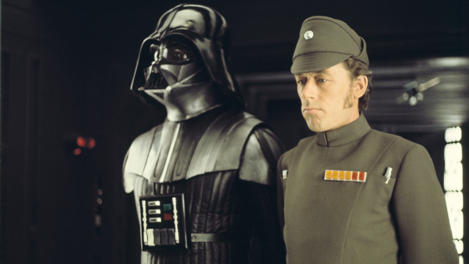 Darth Vader and Imperial Officer. Costume Design by John Mollo. Star Wars: A New Hope (1977)
