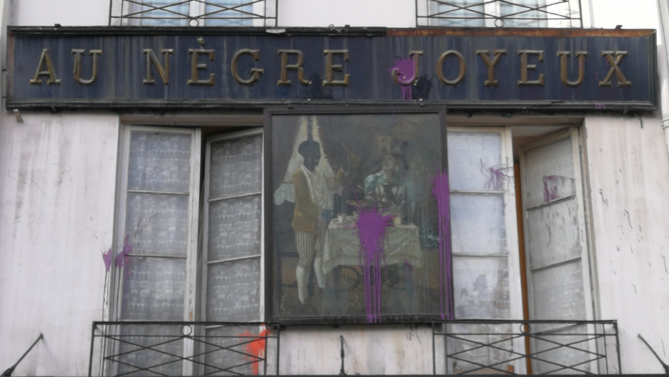 This 19th century sign, which was originally above a grocery shop in Paris, has been defaced several times in recent years. The Paris City Council has voted to take it down.