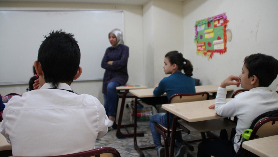 A Syrian class in Istanbul. Many of the students hadn't attending school for years.