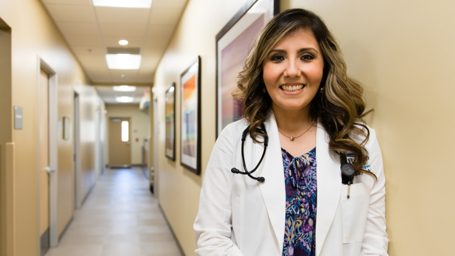 Dr. Olga Maeve is finishing up her medical residency at Clinica Sierra Vista in Bakersfield, California.