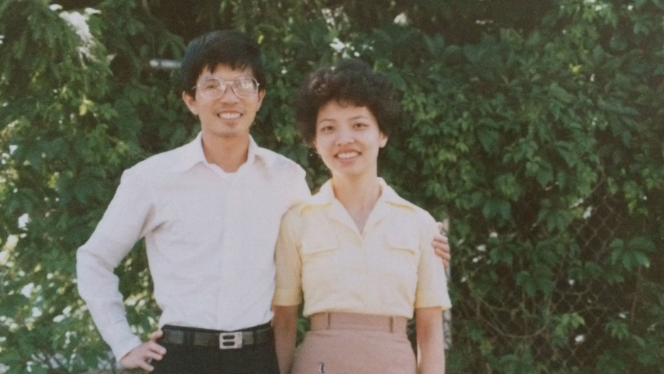 My parents, Zen Soun and Shu Chen Huang, shortly after they arrived in the US in May 1986. All these years later, my mother doesn't like to answer the phone because she's self-conscious about her accent.
