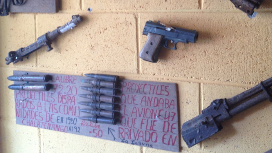 The town of Las Vueltas has almost no murders, but it does have a museum collection of guns and AK-47s that date back to El Salvador's civil war.