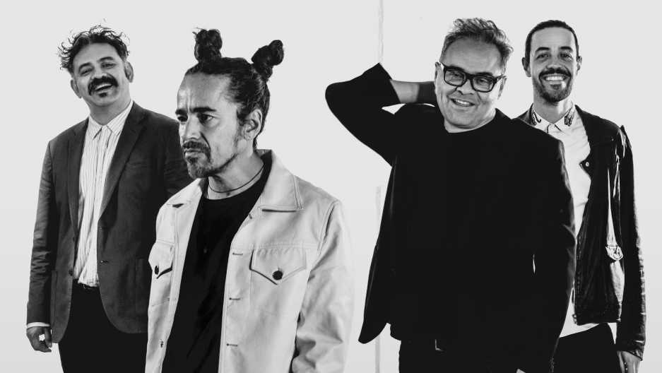 Café Tacvba band members Quique Rangel, Rubén Albarrán, Joselo Rangel and Meme del Real