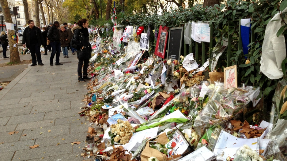 Parisians still flock to the Bataclan memorial site to remember those killed in the November 13 terror attacks.