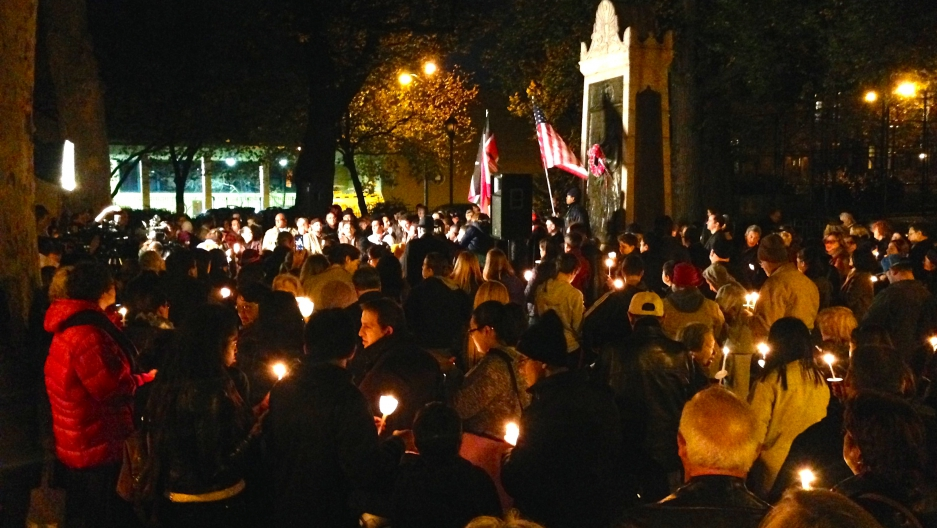 Carroll Gardens vigil