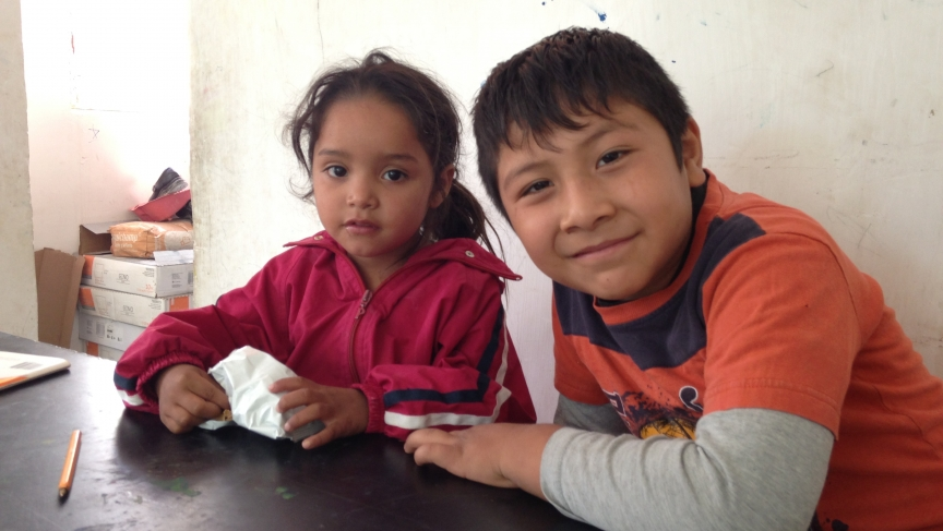 In the Mexican border city of Ciudad Juárez, children visit the new Los Soles study center in the city's outskirts.