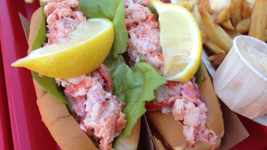 The lobster rolls at The Clam Digger, a restaurant in New Brunswick, Canada