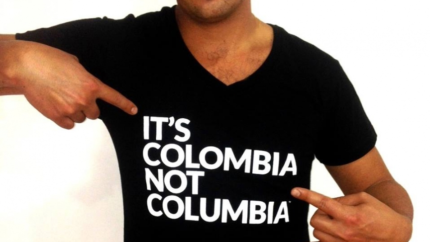 It's Colombia, not Columbia Facebook page