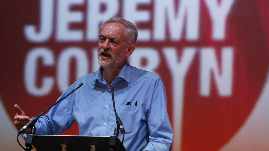 Labour Party leadership candidate Jeremy Corbyn speaks at a rally in Aberdeen, Scotland August 13, 2015. Corbyn, who wants to return Britain's opposition Labor Party to its socialist roots, is the frontrunner to be elected its leader in an internal vote.