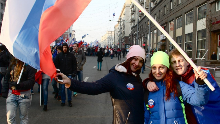 Faced with western sanctions, the Kremlin has pushed for a renewed sense of  patriotism among