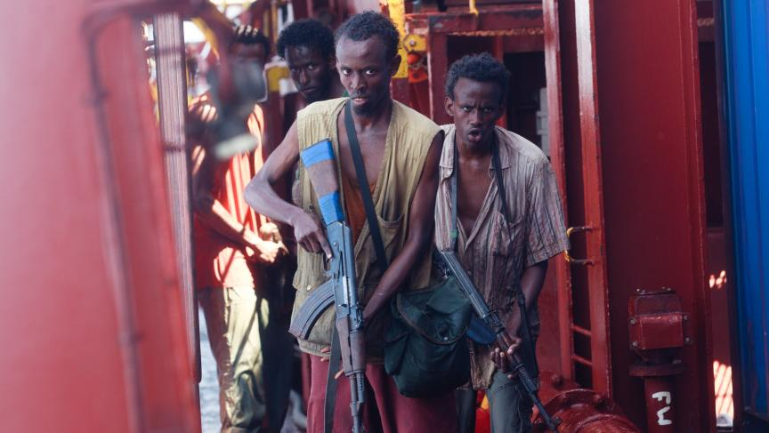 """Barkhad Abdi, a first-time actor who plays the lead pirate in """"Captain Phillips."""""""
