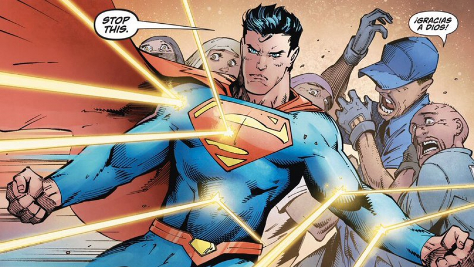 A scene from the latest issue of Superman.