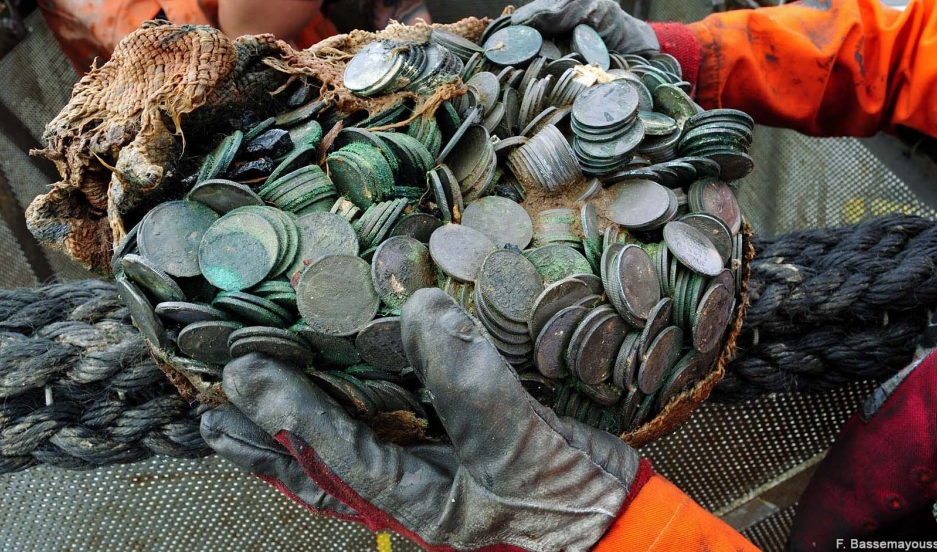 Some of the haul of silver coins from the City of Cairo