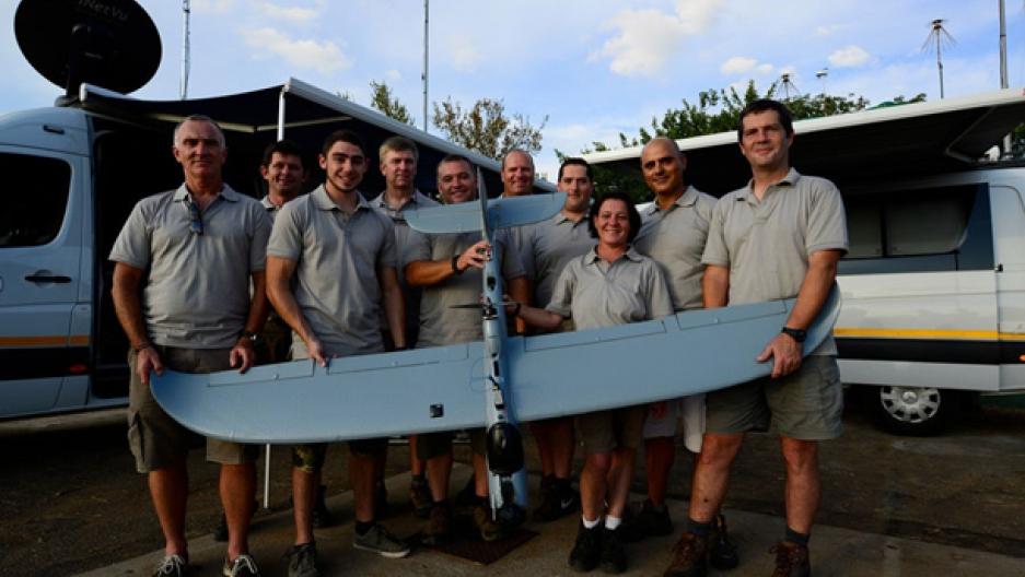 Drones poaching team