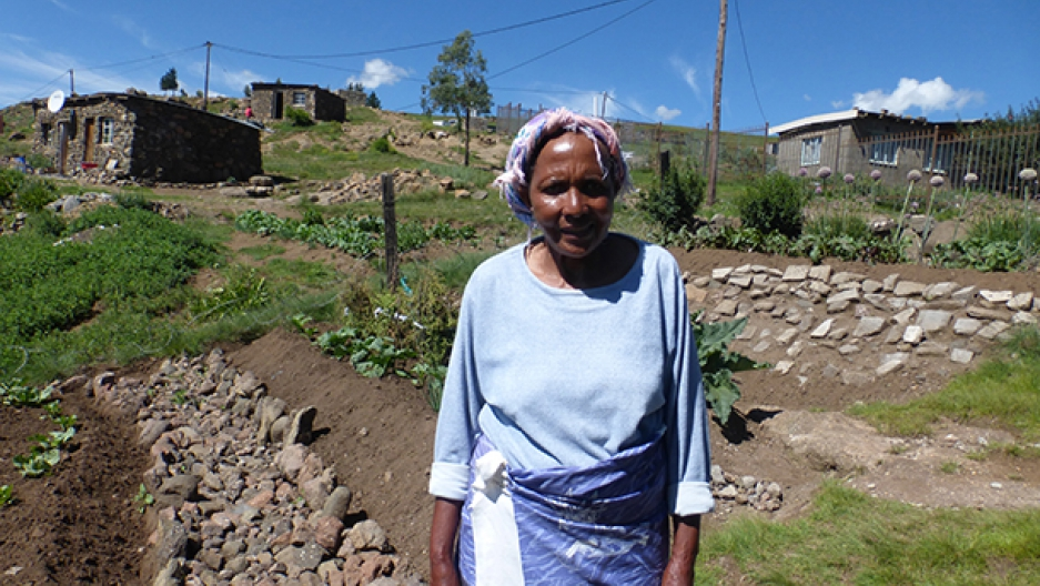 African woman in Lesotho