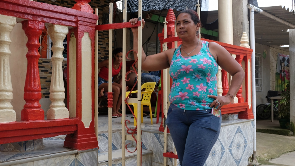7cd1e63dd Eidanis Lamadrid, a founding member of the City of Women, stands in front of