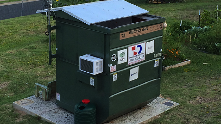 39 professor dumpster 39 has turned a big trash bin into a tiny home public radio international - Recycle containers for home use ...