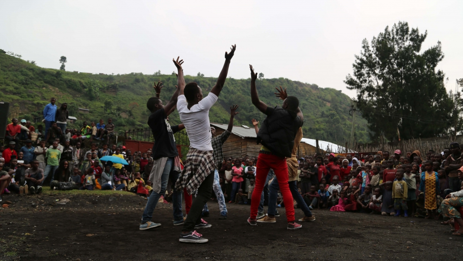 Dancers in Goma, DRC